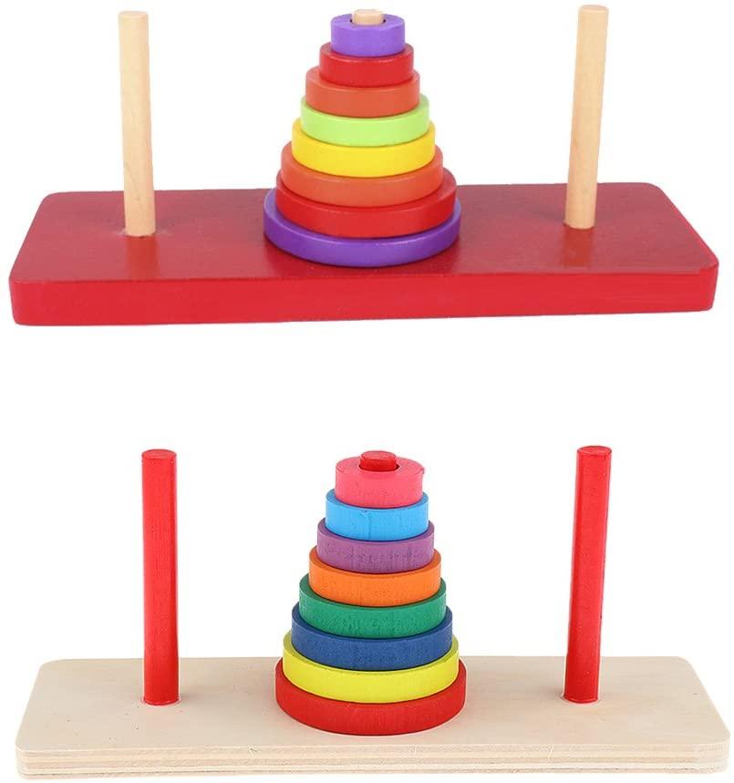 لعبة برج هانوي الخشبي لإثارة العقل